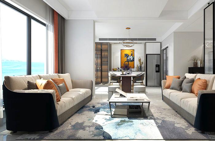 合肥文一豪门金地158平米现代简约风格新房装修   岁月恬静
