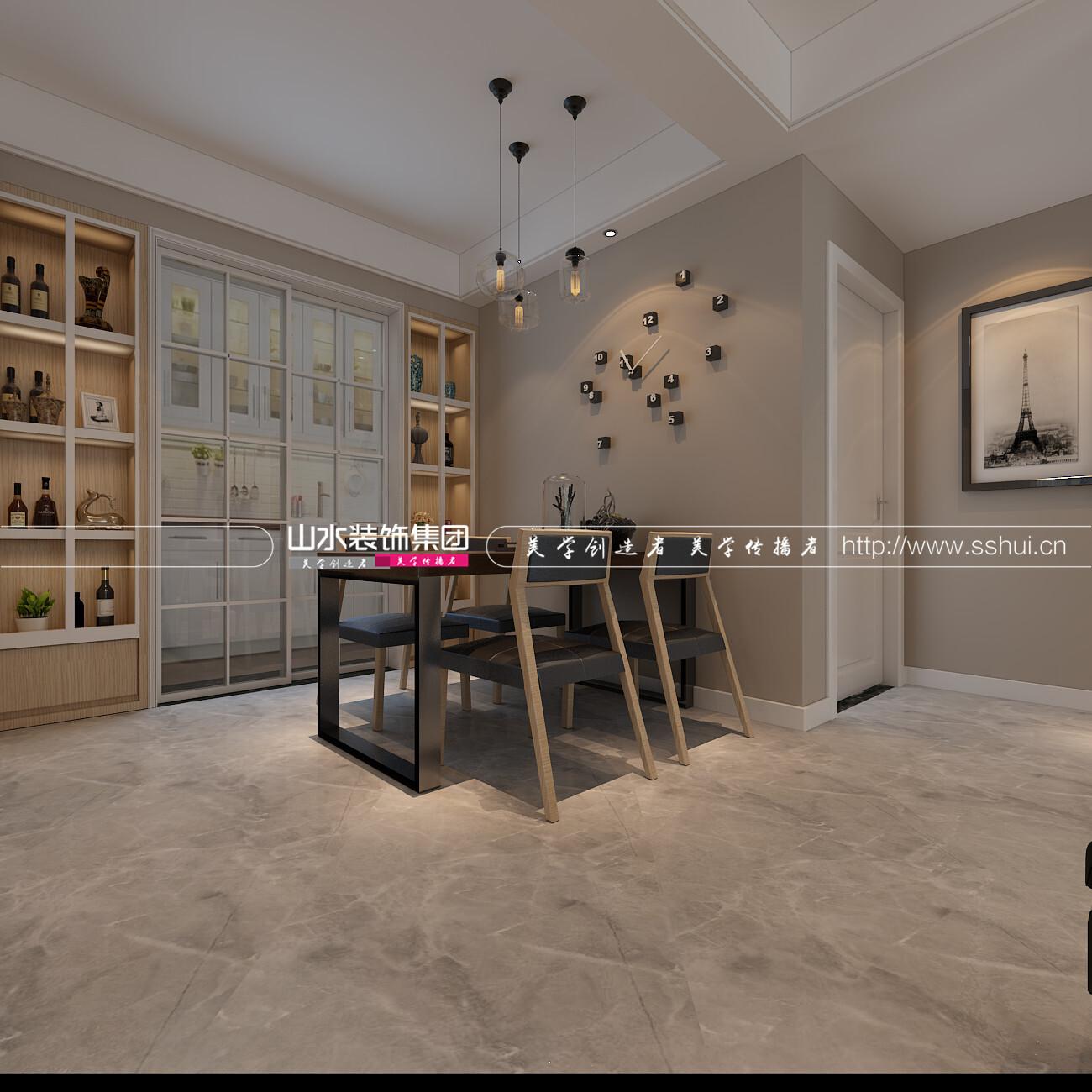 北欧风格100平米三居室装修效果图