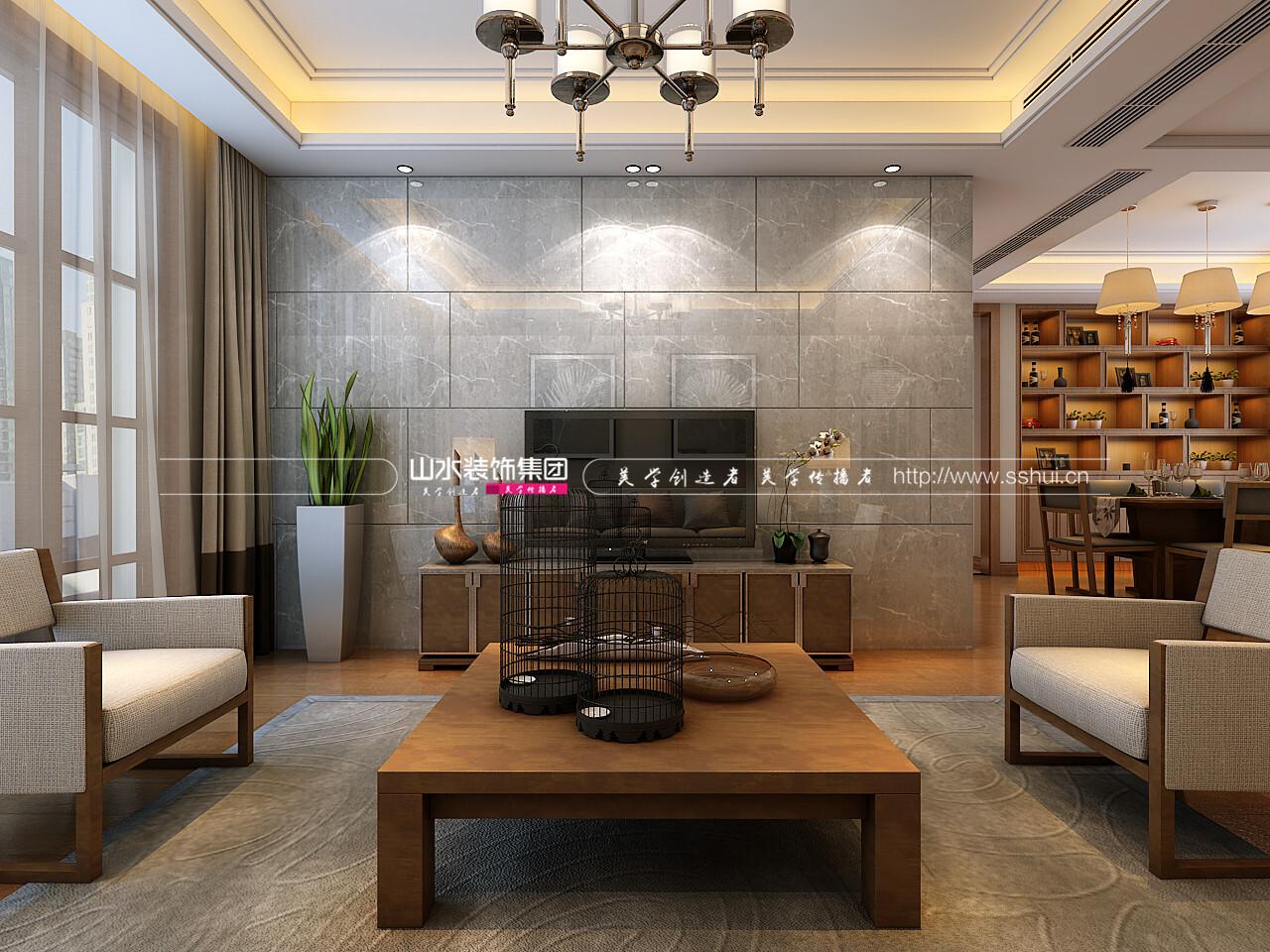 和平盛世110平四室一厅一卫现代风格装修效果图