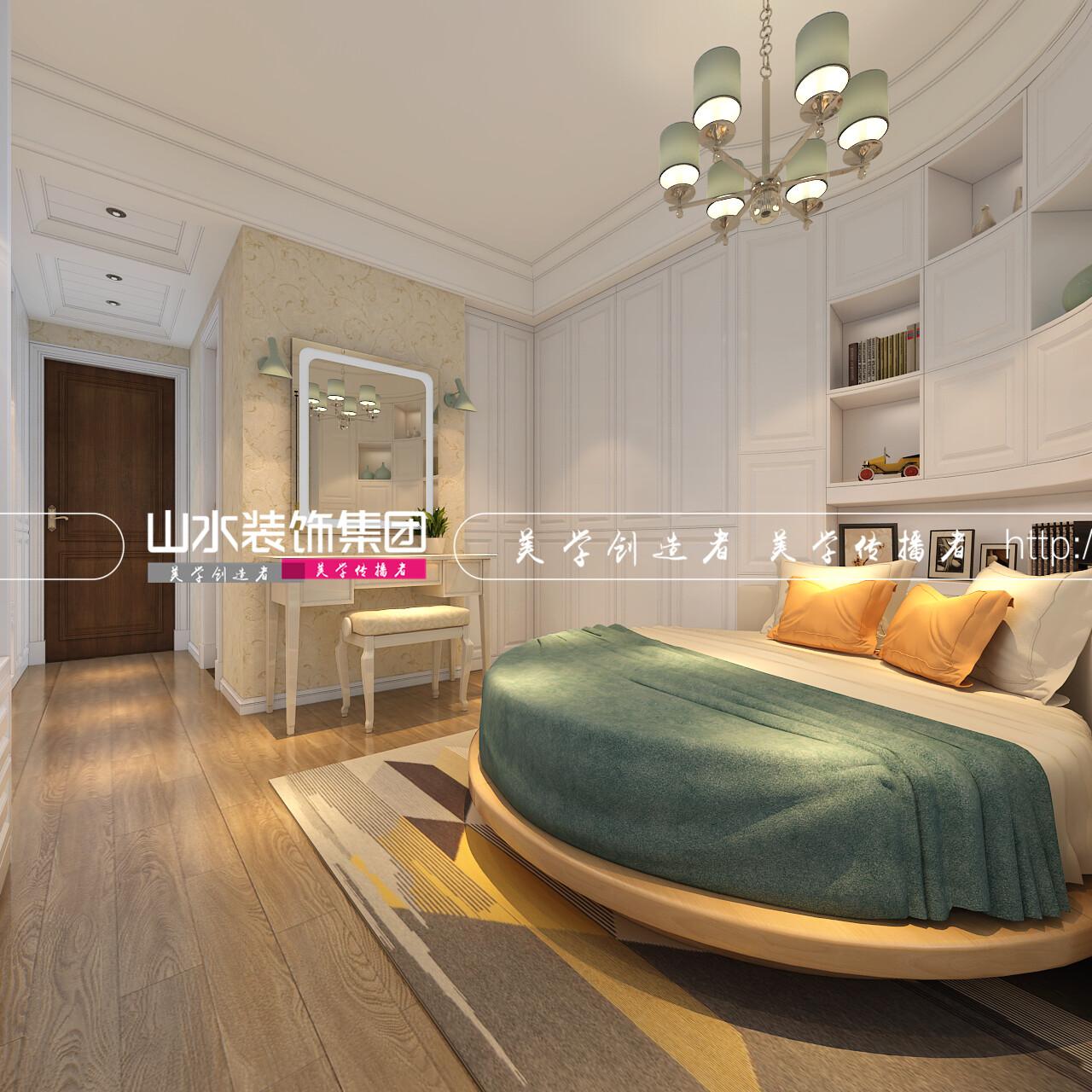 加侨悦山国际美式风格装修效果图-47平公寓