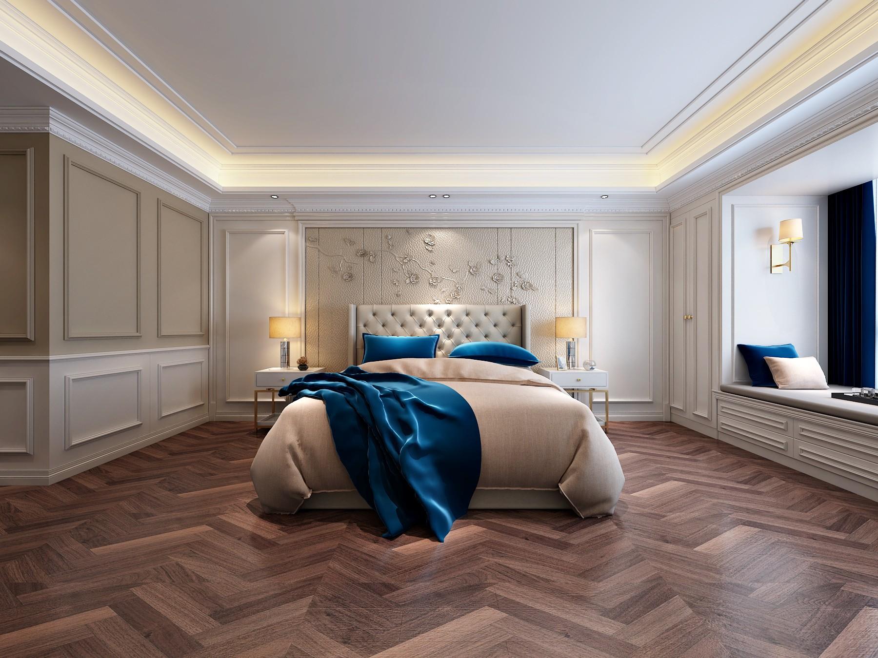 玫瑰園208平四居室美式輕奢裝修效果圖