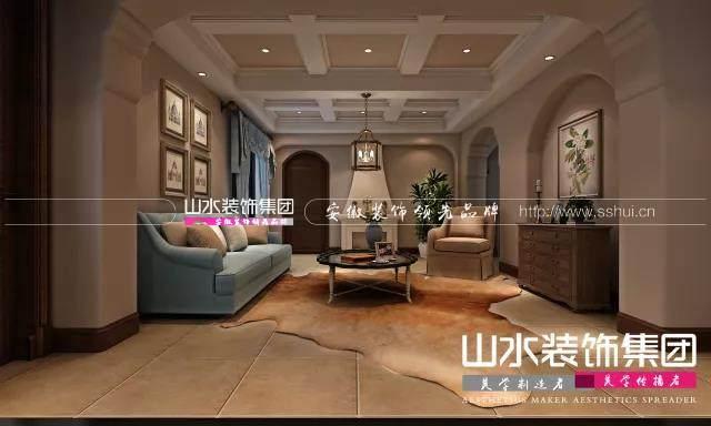 800平美式别墅装修效果图