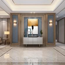 别墅新房装修玄关这样装,业主绝对好评——山水装饰分享