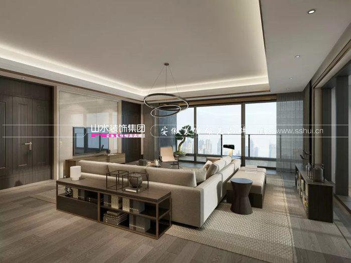 中式轻奢客厅
