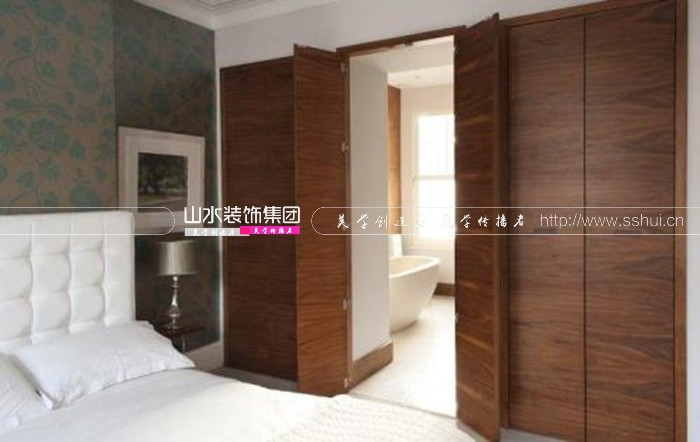 主卧卫生间门对着床怎么装修