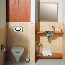 2平米<span style='color: #ff0000'>卫生间怎么装修</span>实用?简化装饰、不做分区好