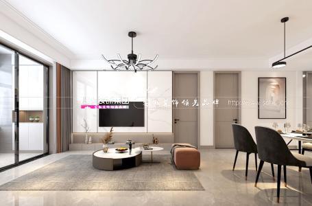 合肥世茂翡翠首府113平米現代簡約風格新房裝修   更簡單豐富