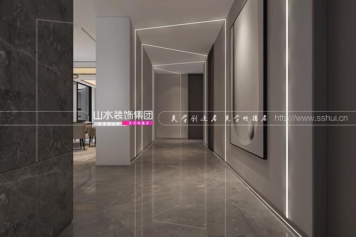 合肥华润凯旋门130平米现代新房装修