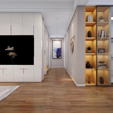 现代风格装修效果图-139平米三室一厅