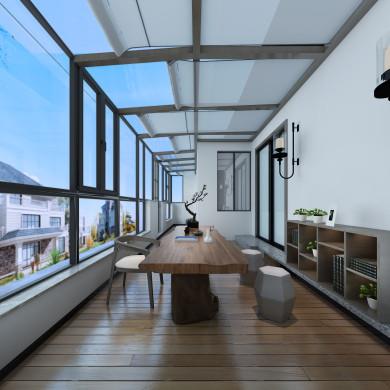 现代风格装修效果图-200平米四室两厅