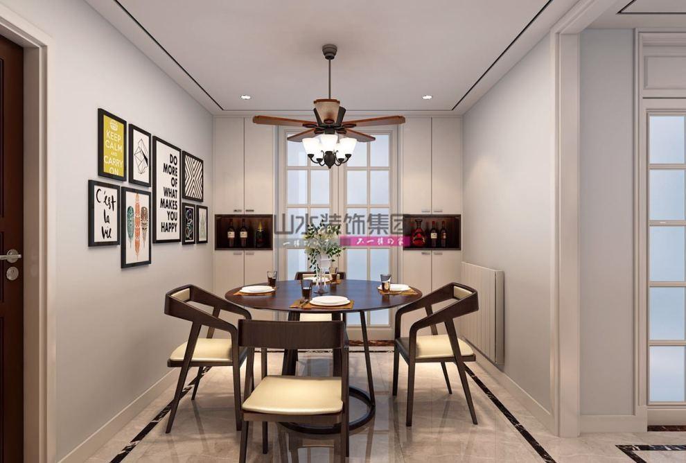 现代风格装修效果图-124平米两室一厅