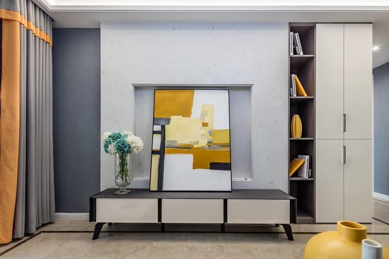 现代风格装修效果图-109平米三室两厅