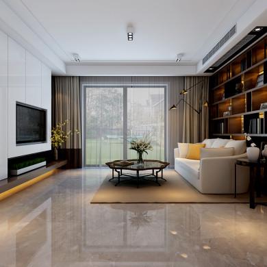现代风格装修效果图-87平米三室一厅