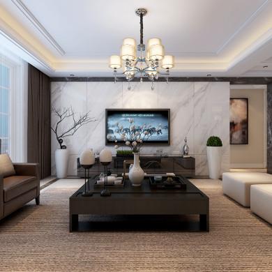 现代风格装修效果图-163平米四室两厅