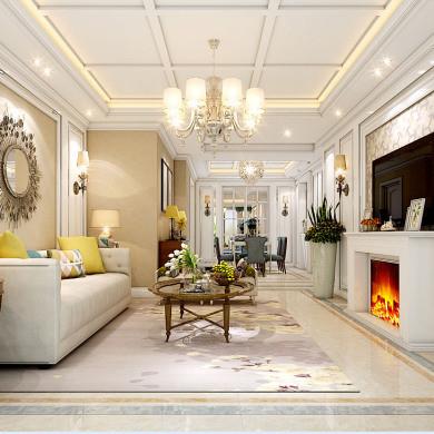 混搭风格装修效果图-120平米三室两厅