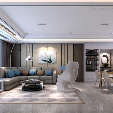 欧式风格装修效果图-143平米三居室