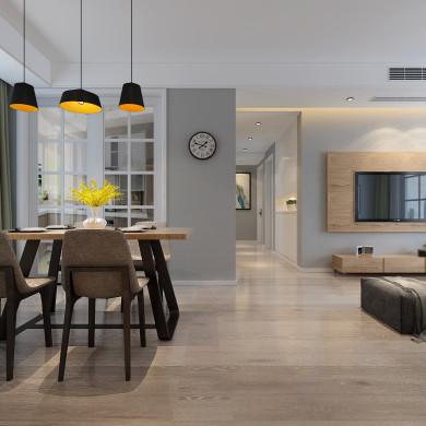 现代风格装修效果图-131平米三居室