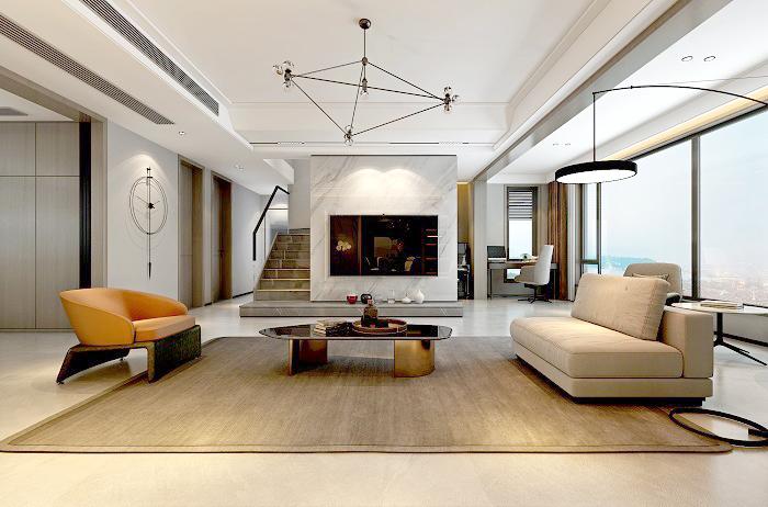 江山印200平方現代風格新房裝修|簡約,是家的另一種美