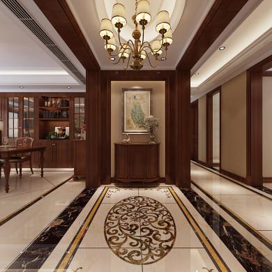 美式风格装修效果图-185平米四居室