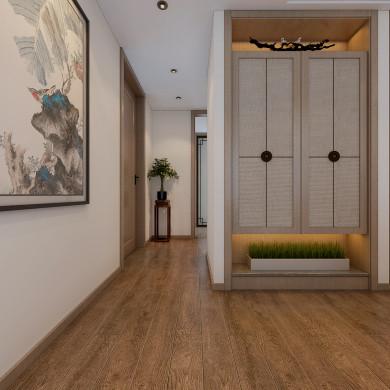 新中式风格装修效果图-185平米四居室