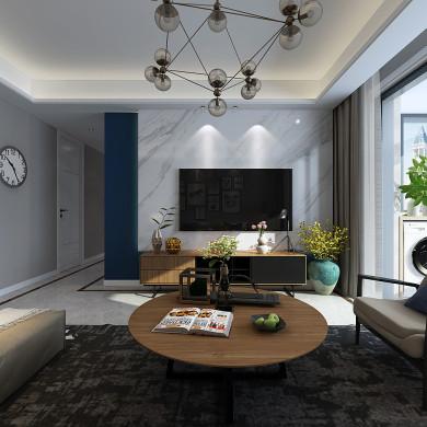 现代风格装修效果图-113平米四居室