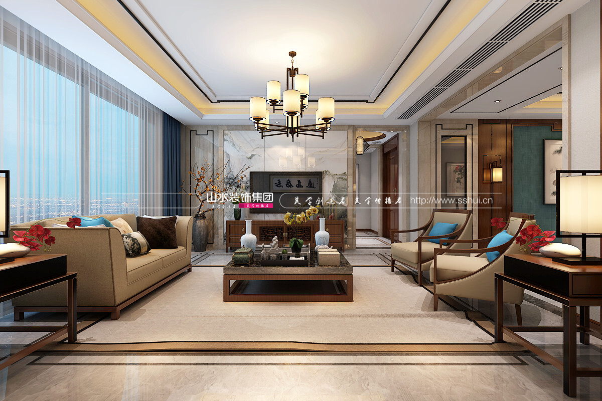 182平米中式风格四居室装修效果图