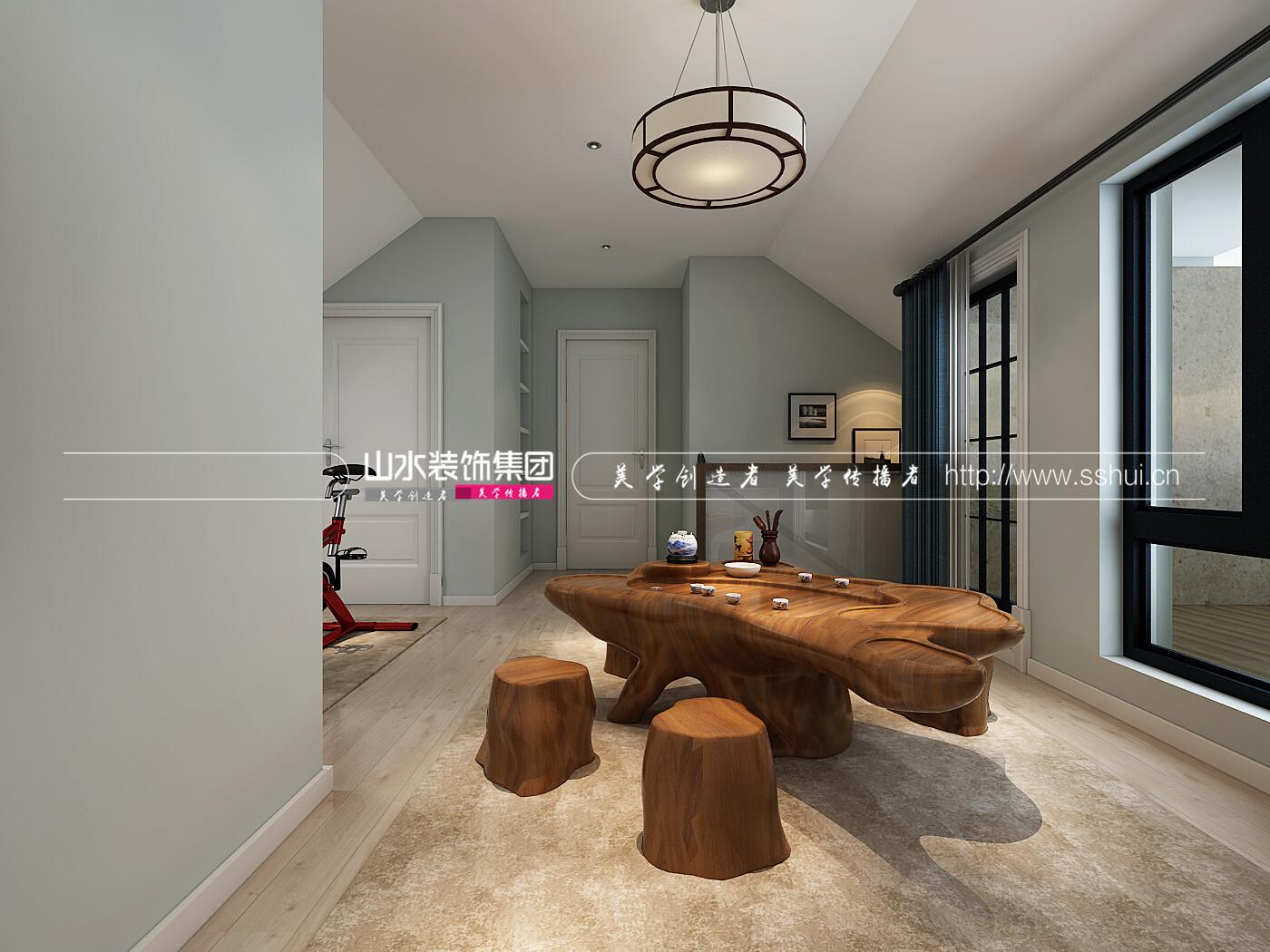 现代风格装修效果图-189平米四居室