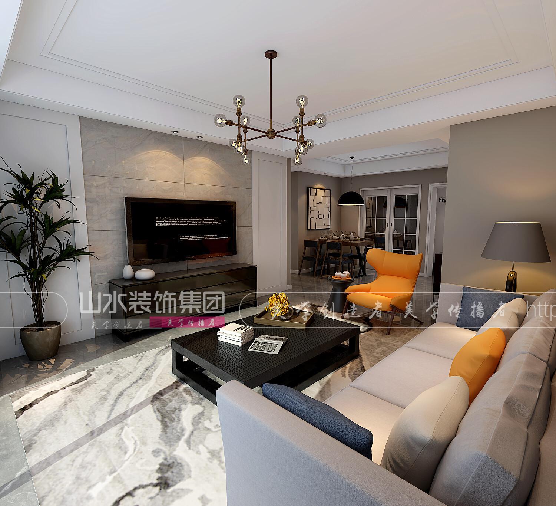 现代风格 120平米三居室装修效果图