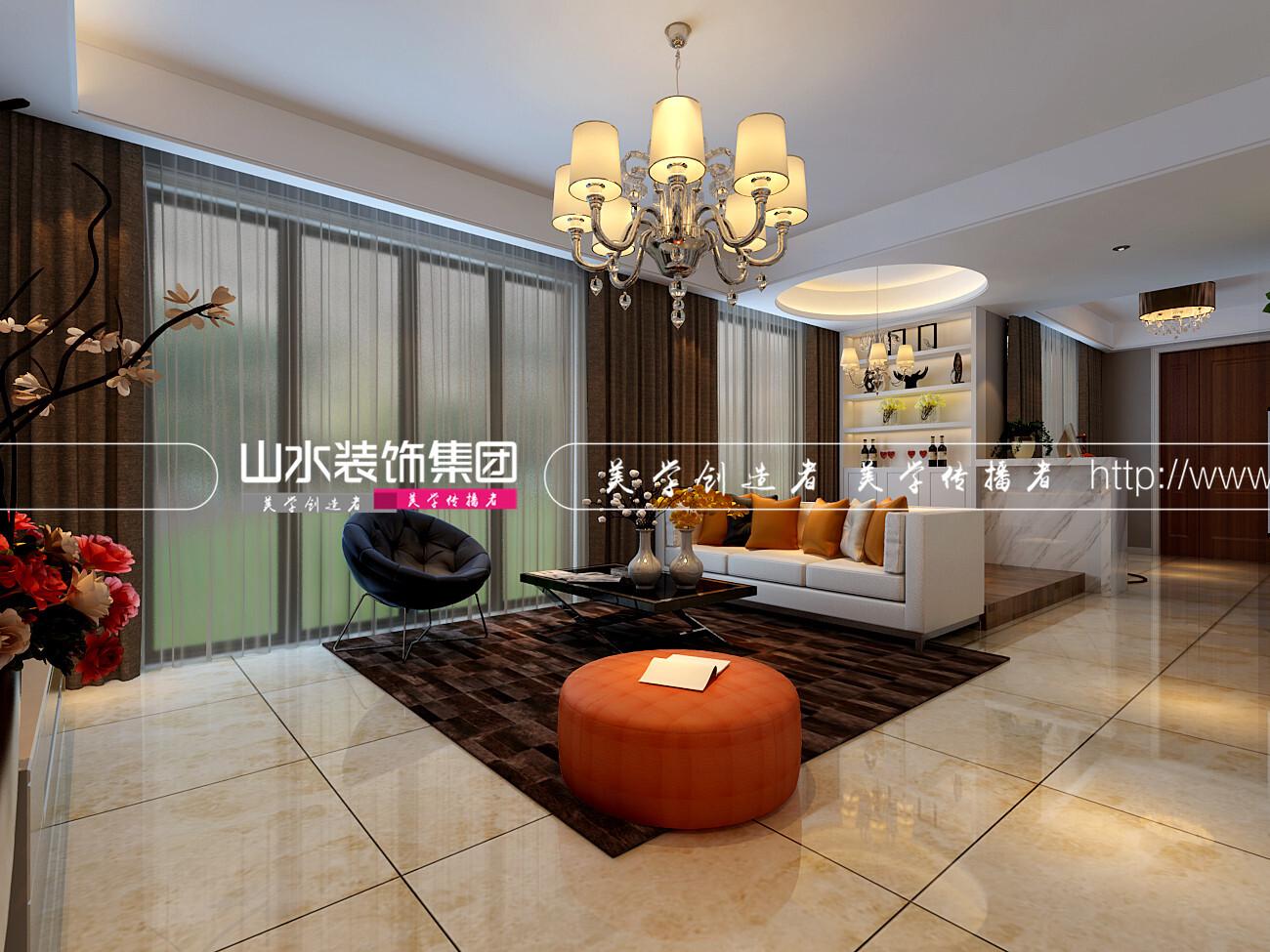 100平米現代風格三居室裝修效果圖