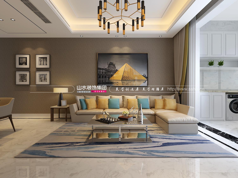 玫瑰苑現代風格裝修效果圖-100平米三居室