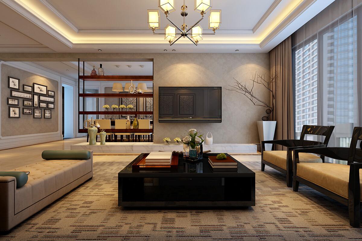 140平米復式混搭風格三居室裝修效果圖