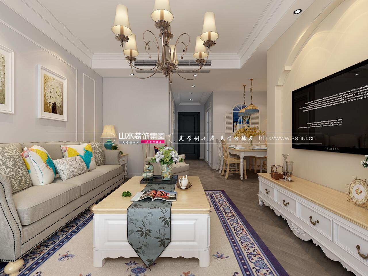 90平米田園風格兩居室裝修效果圖