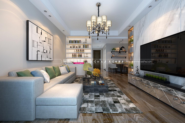 80平米現代風格兩居室裝修效果圖