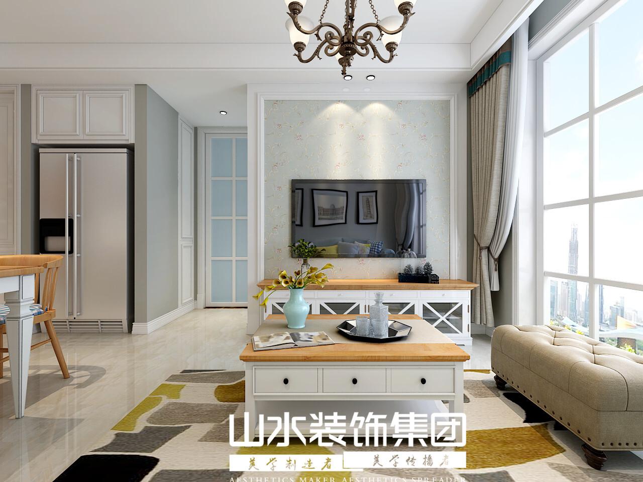 寶利豐78平兩居室簡美風格裝修效果圖