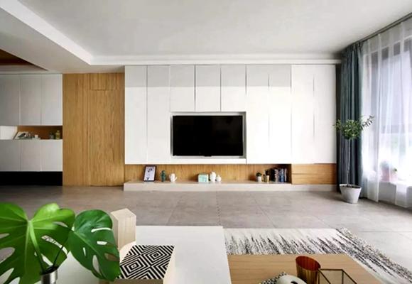 客厅<span style='color: #ff0000'>电视背景墙</span>装修设计这样做,让你家颜值实用性翻倍