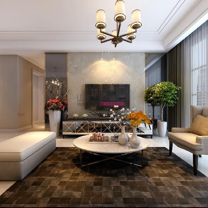 120平米三室两厅现代风格装修效果图