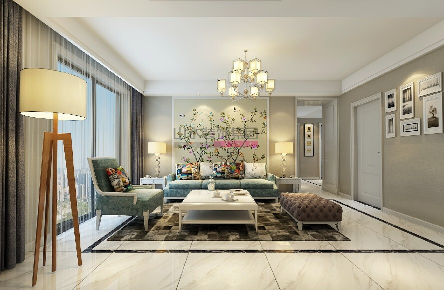 135平三室兩廳現代風格設計裝修效果圖