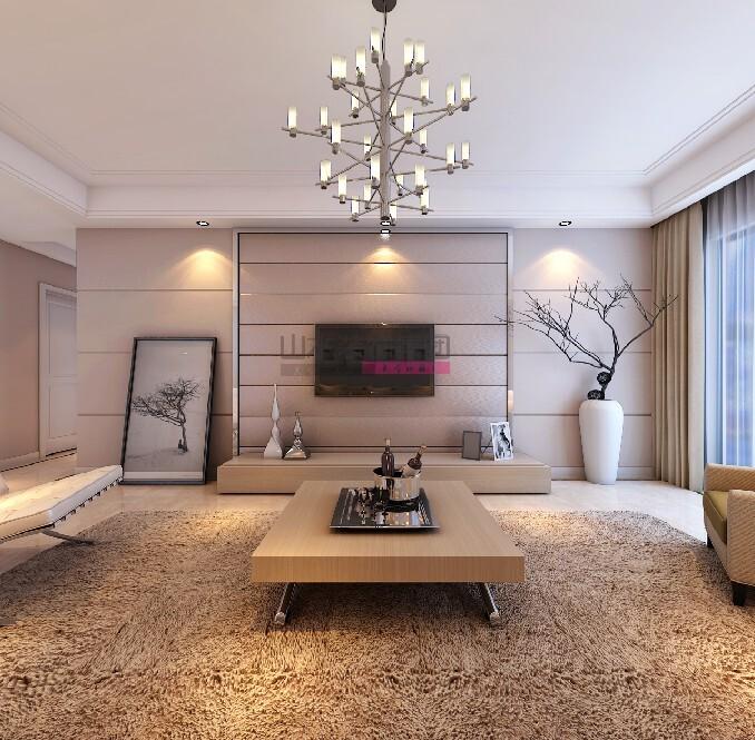 簡約風格120平方三室兩廳裝修效果圖