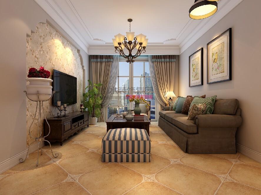 120平米美式三室两厅装修效果图