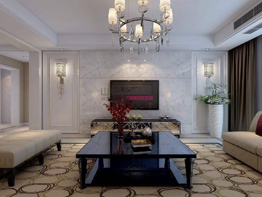現代風格100平三室兩廳兩衛裝修效果圖