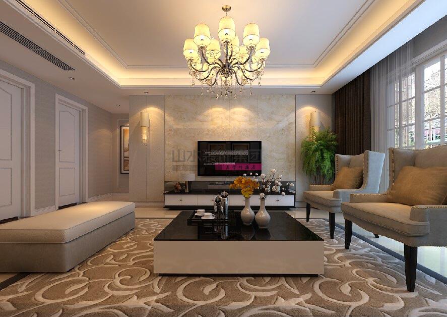現代簡約風格裝修效果圖120平三室兩廳兩衛