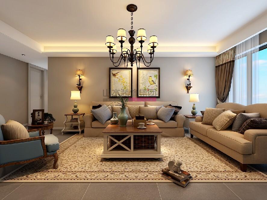 135平三居室現代風格裝修效果圖