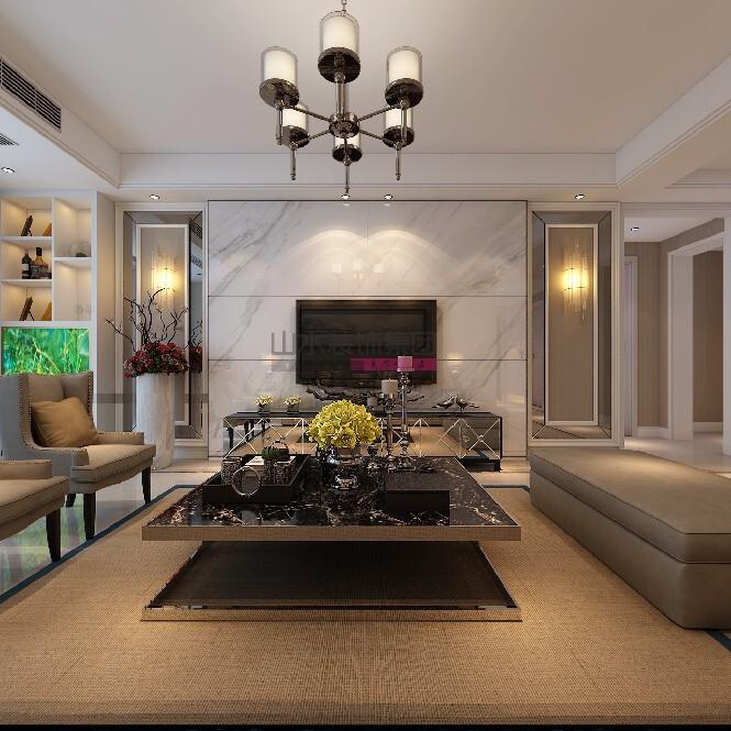 現代風格裝修效果圖134平米三室兩廳