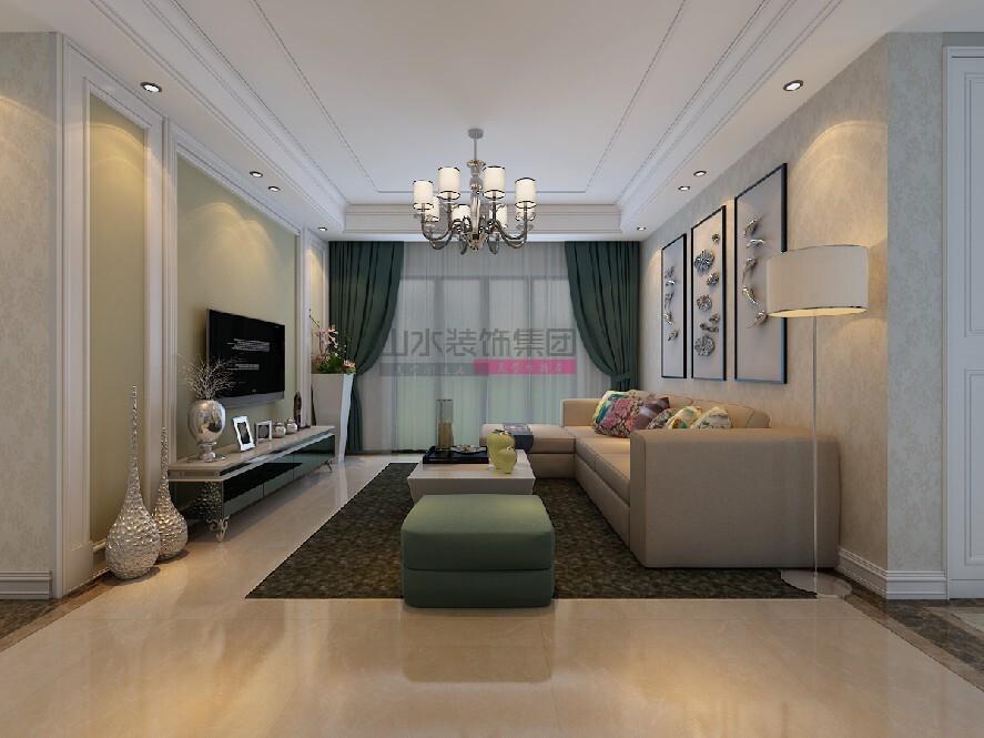 102㎡三室兩廳現代風格裝修效果圖