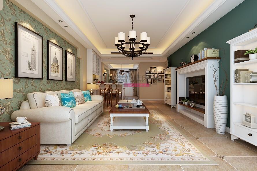 簡美風格140平米三室兩廳裝修效果圖