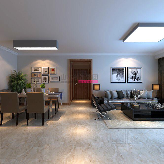 140平三室兩廳兩衛現代簡約風格裝修效果圖