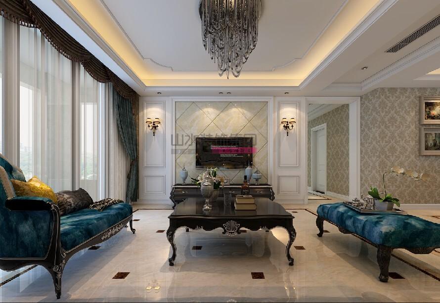 合肥120平米四居室欧式风格装修效果图