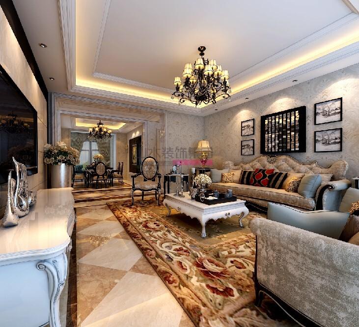 紫御府190㎡四室两厅欧式风格装修效果图