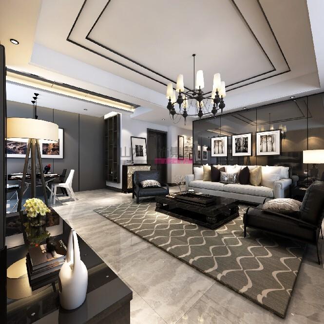 100平米三室两厅现代风格装修效果图