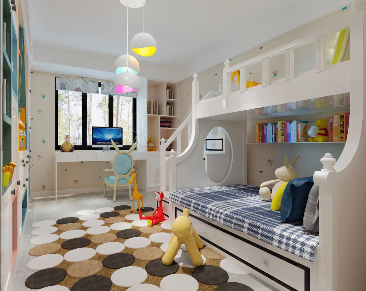 4款儿童房上下层装修设计效果图,总有一款适合你家